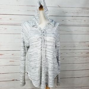 American Eagle Soft & Sexy Plush Lace Up Hoodie